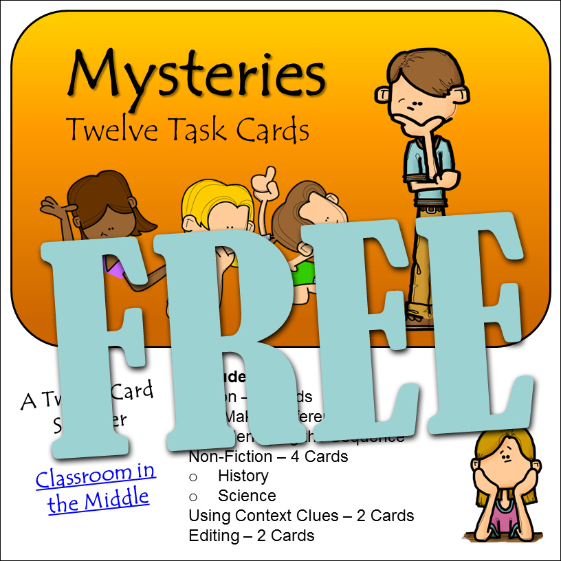 Mysteries Task Cards Free