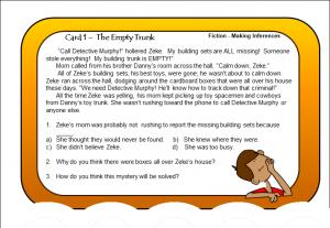Task Card Mysteries Card 1
