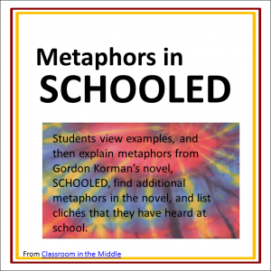 Metaphors in Schooled freebie