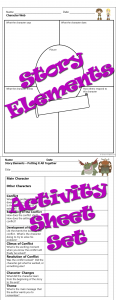 Story elements activity sheets