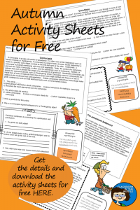 Autumn Activity Sheets for Free pin