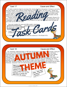Autumn Task Cards
