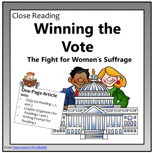 Close Reading Women's Suffrage