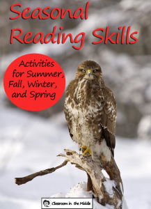Seasonal Reading Skills - winter pin