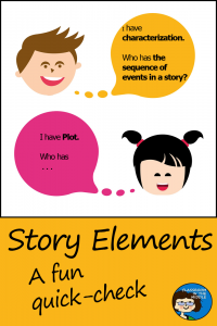 Story Elements - A Fun Quick-check pin