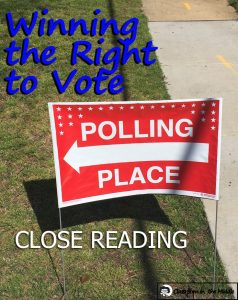 Winning the Right to Vote - Close Reading pin