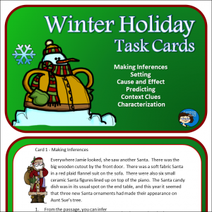 Winter Holidays Task Cards