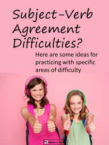 Subject Verb Agreement Difficulties