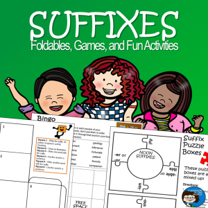 Suffixes - Foldables, Games, and Fun Activities