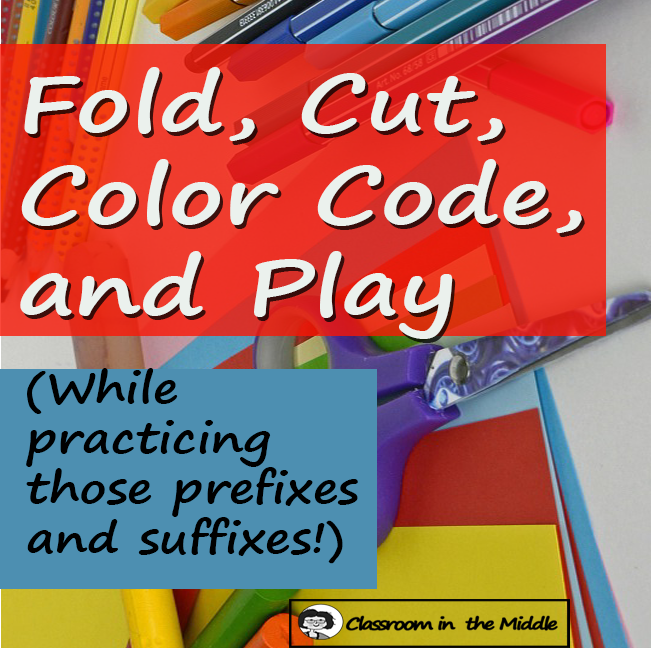 Fold, Cut, Color Code, and Play - Prefixes and Suffixes