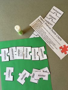 Metric Prefixes Puzzle Pieces