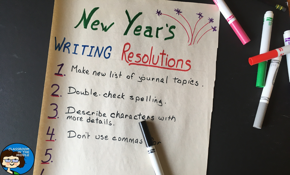 New Year's Writing Resolutions