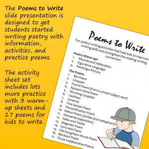 Poems for Kids to Write