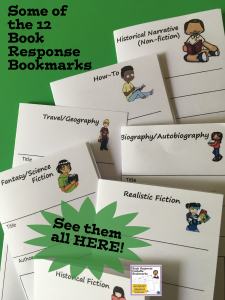 Book Response Bookmarks and Reading at Home