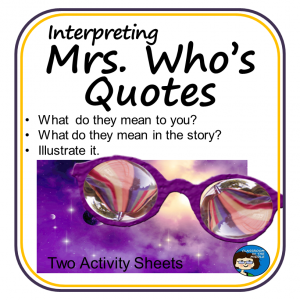 A Wrinkle in Time free activity