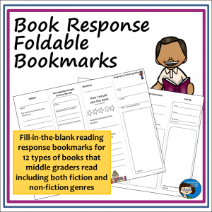Book Response Bookmarks