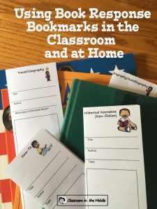 Using Book Response Bookmarks pin