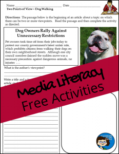 Media Literacy Free Activity Sheets