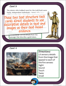 Descriptive Text Structure Task Cards