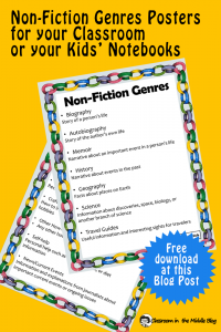 Non-fiction Genres posters pin