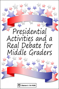 Presidential Activities and a Real Debate pin