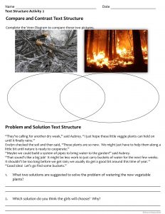 Text Structures Free Activity Sheets Slide3