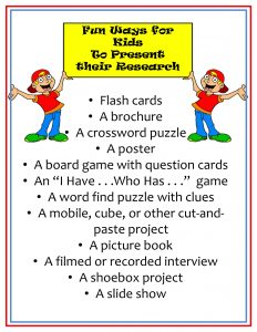 Fun Ways for Kids to Present their Research