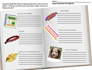 Because of Winn-Dixie Scrapbook activity