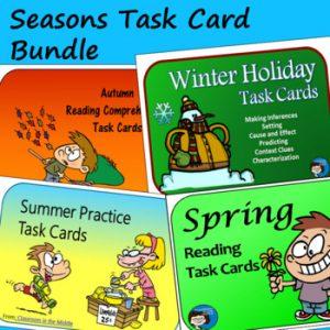 seasons task cards bundle