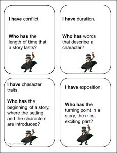 I Have Who Has - Story Elements cards