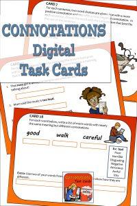 Connotations Digital Task Cards