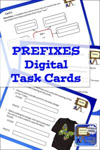 Prefixes Digital Task Cards