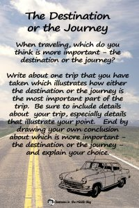 The Destination or the Journey quote